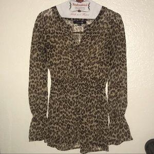 Forever 21 See Thru Leopard print sheer.